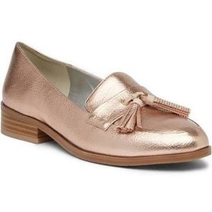 NEW《Reaction》Kenneth Cole Rose Gold Loafers Sz 8